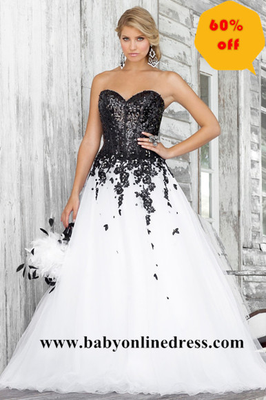 dress wedding dress black and white