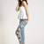 Vintage Detailed Woman Side Bow Cutout Ripped Denim Sexy Jeans Jeggings Trousers   eBay