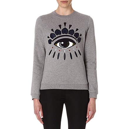 KENZO - Eye embroidered sweatshirt | Selfridges.com
