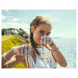 jewels shop dixi gypsy boho bohemian hippie grunge jewelry jewelery gypsy rings ring midirings aboveknucklerings bracelets bangle sterling silver