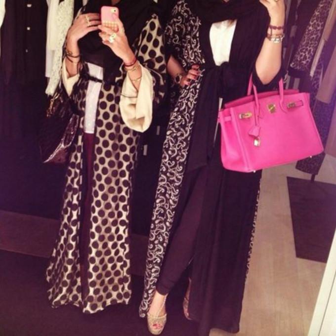 dress long dress abaya gold & black abaya burqa middle eastern fashion islamic fashion islamic dress the middle