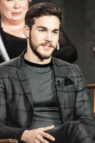 blouse chris wood elegant handsome grey black jacket suit pants