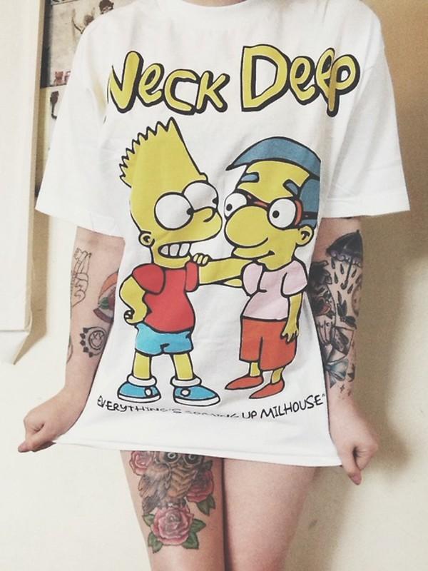 the simpsons t-shirt tattoo shirt