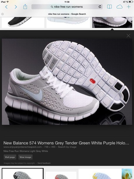 shoes grey white