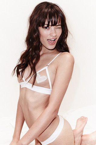 2bc04ce515b SKIVVIES by For Love   Lemons Be Mine Bralette in White