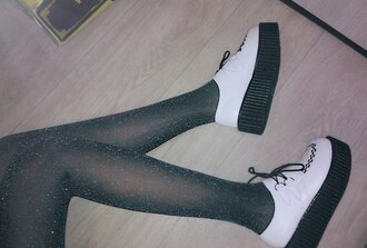 shoes creepers sparkle grunge grunge shoes it girl shop goth kawaii kawaii grunge