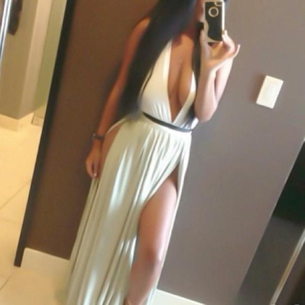 maxi dress slit dress maxi white dress deep plunge