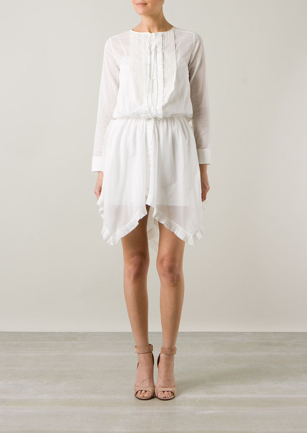 dress nina ricci white shirt-dress