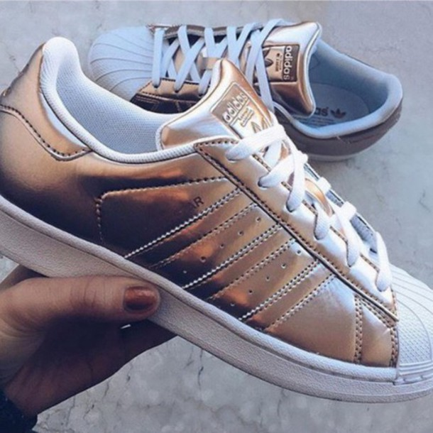 shoes adidas gold teenagers teen girl teen clothing teen style adidas  adidas shoes adidas superstars adidas