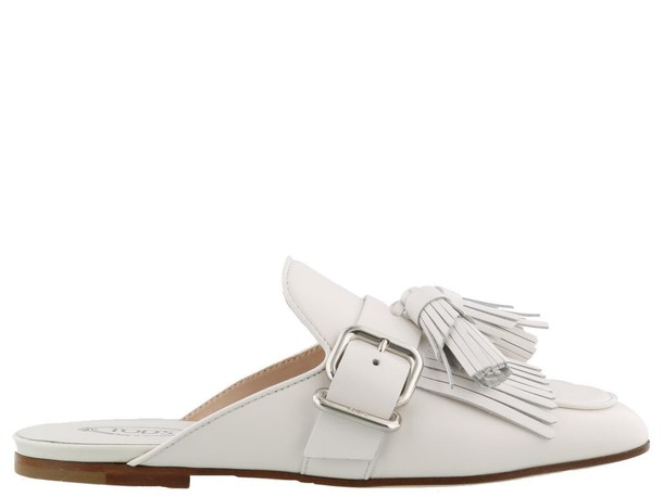 Tods white shoes