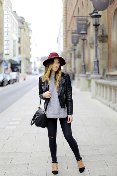 jacket bag jeans blogger flirting with fashion