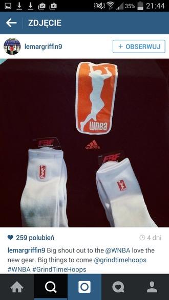 socks wnba basketball orange nba girl