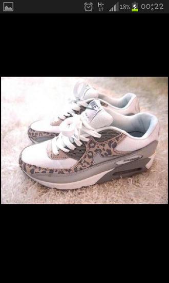 cute shoes leopard print nikes air max trainers