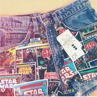 shorts star wars denim shorts