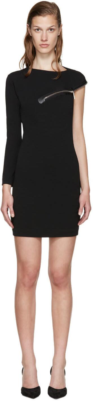 dress zip black wool