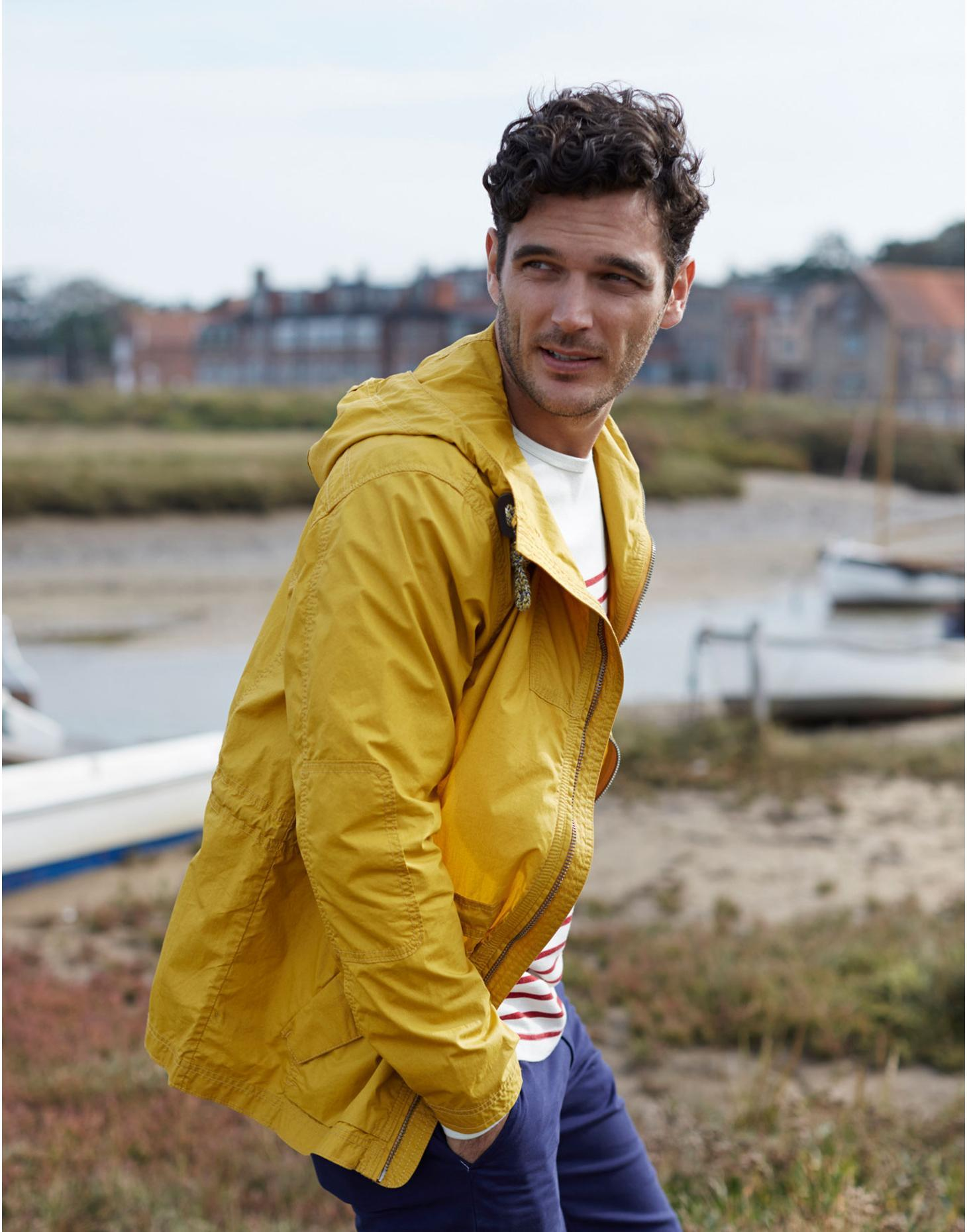 Antique Gold Alderton Mens Waterproof Jacket  | Joules US