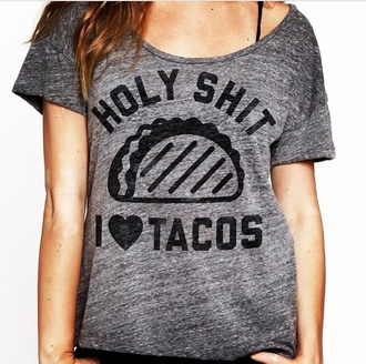 shirt grey t-shirt grey gray gray t-shirts food skirt food style t-shirt short sleeve
