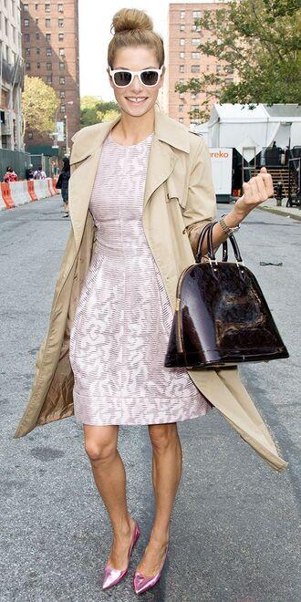 bag patent leather bag burgundy bag dior bag dior handbag dress pink dress a line dress coat camel coat trench coat pumps pink pumps sunglasses white sunglasses spring outfits streetstyle