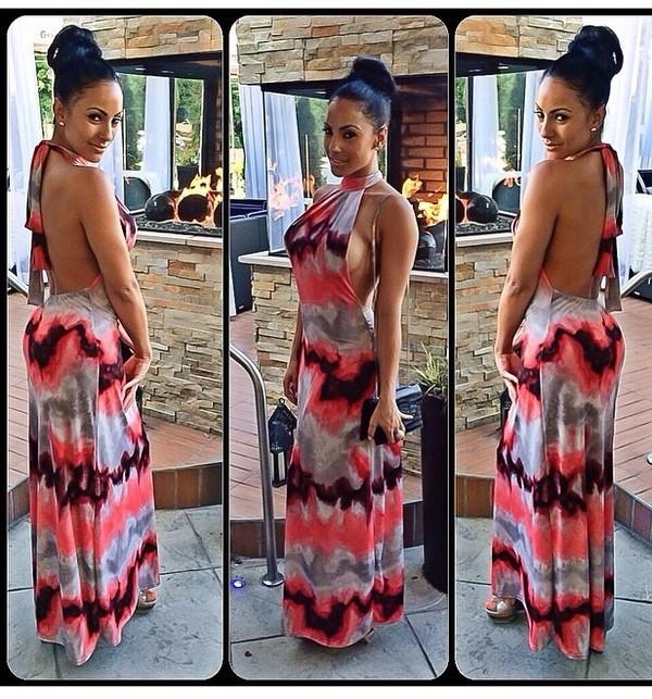 dress tie dye maxi dress
