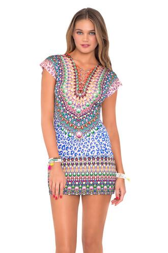 dress luli fama summer dress beach dress multicolor cover up bikiniluxe