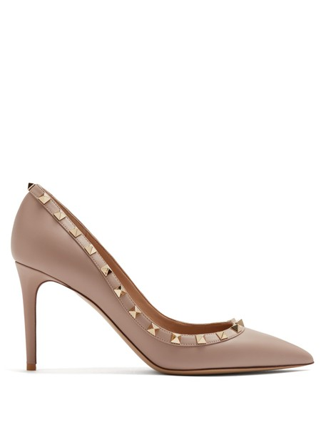 Valentino pumps leather nude shoes