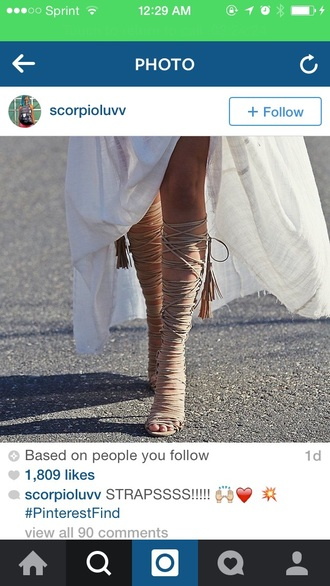 shoes heels knee high heels knee high high heels strappy heels nude heels
