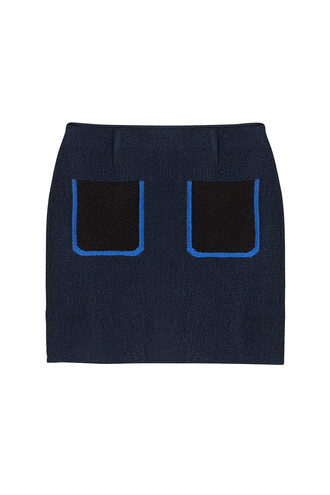 skirt mini skirt mini silk blue