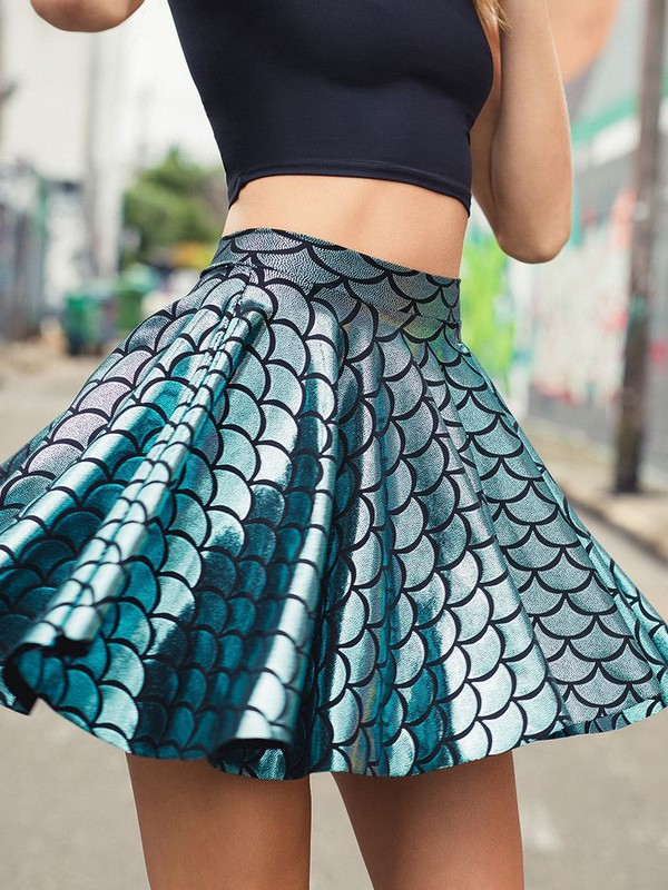 Skirt Girl It Girl Shop Mermaid Black Milk Skater