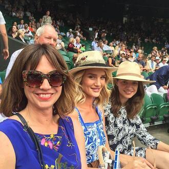 dress rosie huntington-whiteley summer dress midi dress hat
