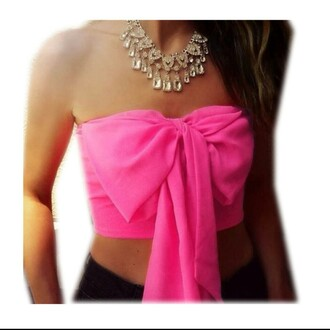 shirt crop top blouse crop tops bow bows strapless strapless shirt summer outfits summer top beach beach shirt