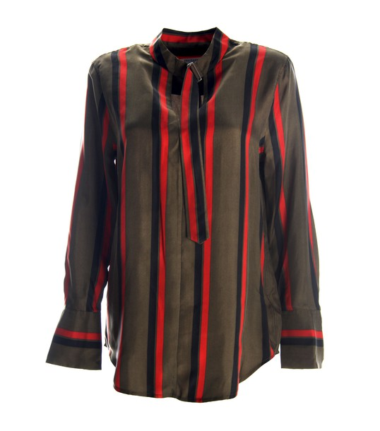 Equipment shirt silk multicolor top