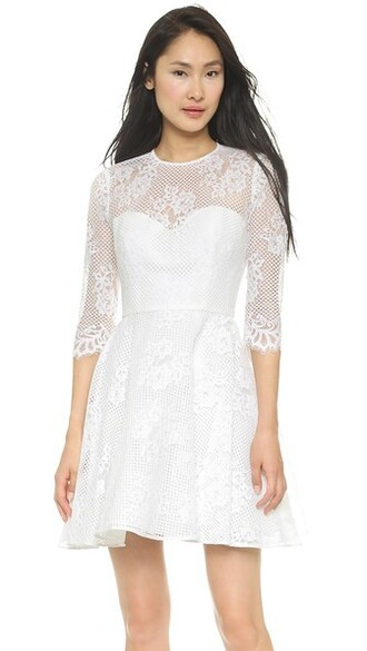 dress a line dress white