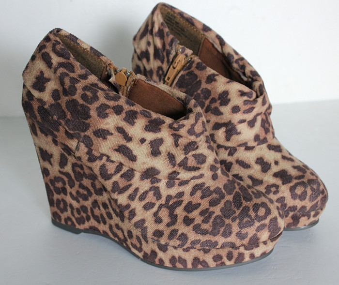 Fashion wedges steve paltform flannelet leopard print high heel boots-inBoots from Shoes on Aliexpress.com