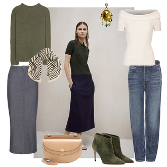 look de pernille blogger sweater skirt top jeans bag shoes scarf jewels