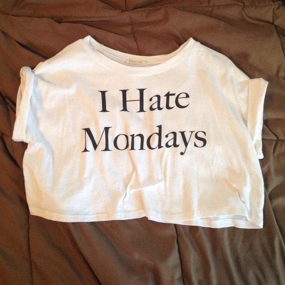 54% off  Tops - I hate Mondays crop top from Britney's closet on Poshmark