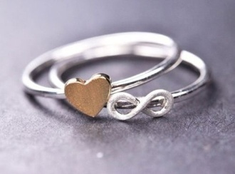jewels ring heart infinity