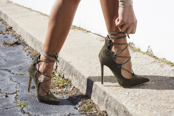 shoes, pumps, olive green, olive shoes