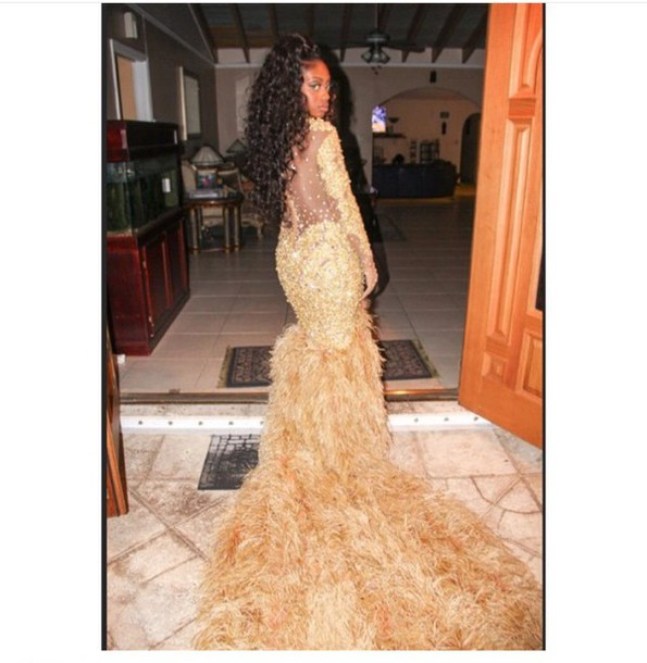 dress long sleeve lace prom dress gold sequins gold dress
