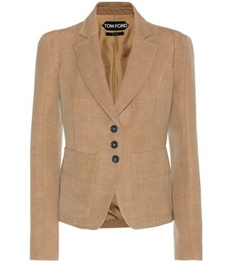 blazer wool beige jacket