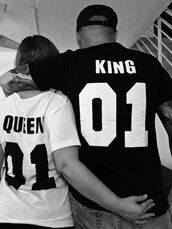t-shirt,couple,shirt,love,bae,summer,matching tees,tees,white top,black top,quote on it