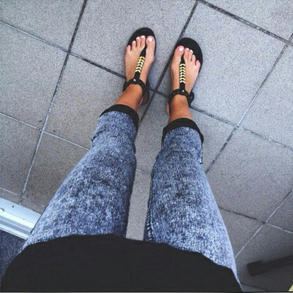 fashion sandals shoes style jeans