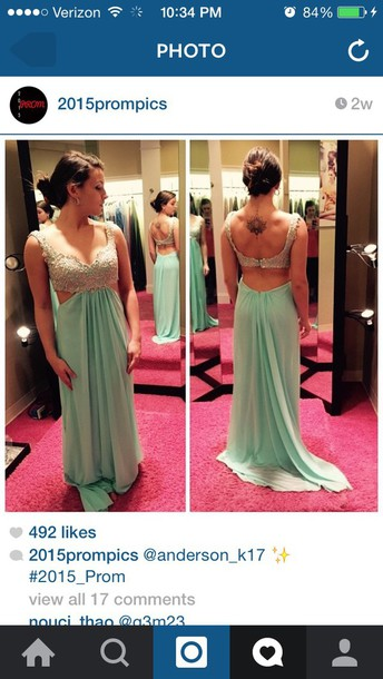 dress blueish prom flowy backless