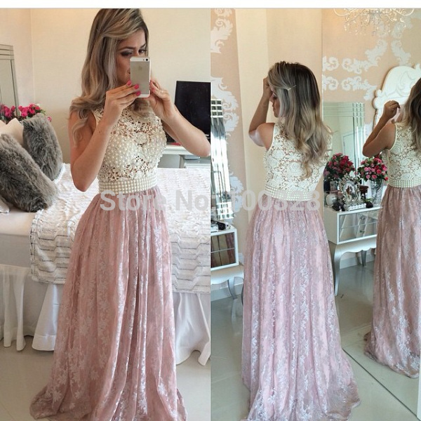 Aliexpress.com : buy vestido de festa hot sale floor length scoop neckline appliques pearls cap sleeve backless a line prom dresses 2015 new style from reliable dress spots suppliers on rose wedding dress co., ltd