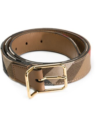 women 100 belt leather nude cotton