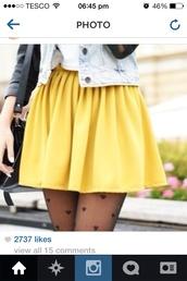 skirt,yellow,pants,skater skirt,heart
