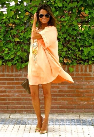dress peach dress short peach dresses summer dress flowy