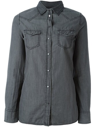 shirt denim shirt denim grey top