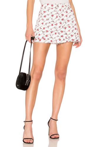 skirt mini skirt mini rose print