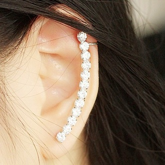 jewels earings cuff multi stone earing multi stone fashion blogger style stylish ear cuff snake ear cuff earrings earings fashion blogger rock