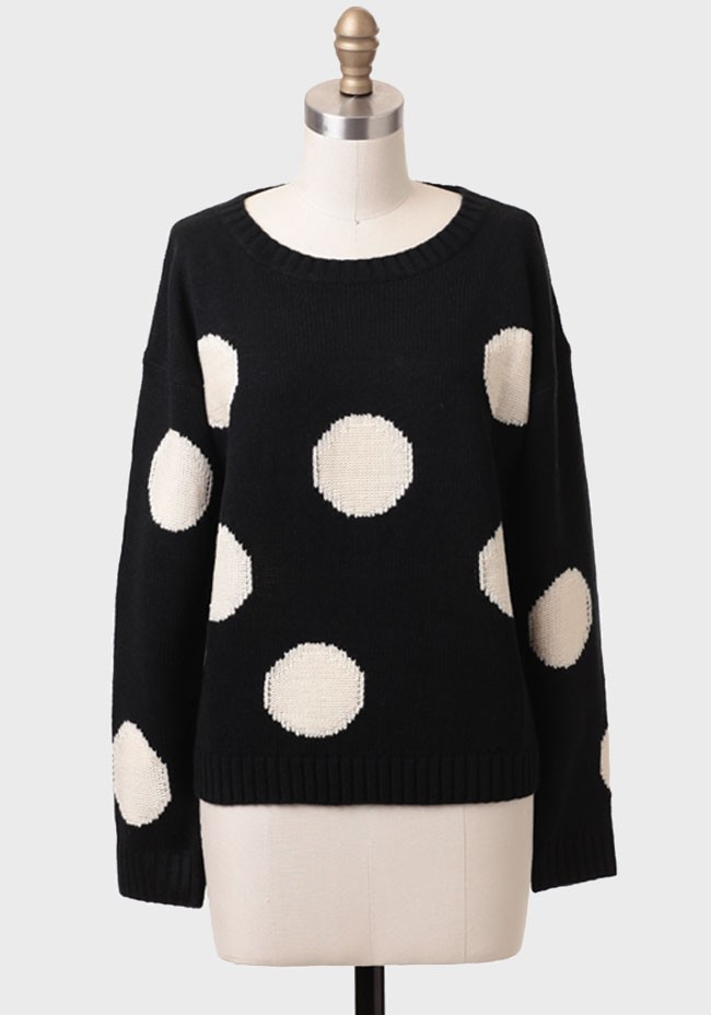 Megan polka dot sweater